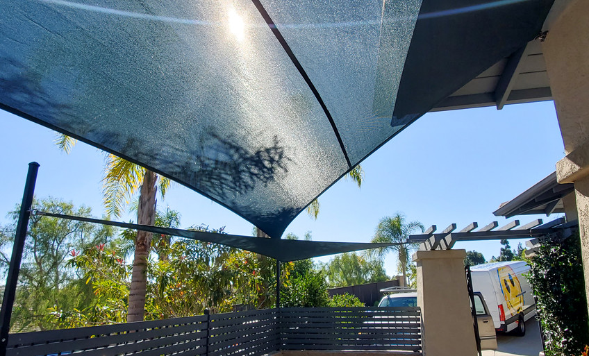 Overlapping Patio Sails