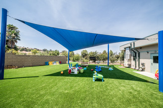 Custom Shade Sail - Playground, Blue