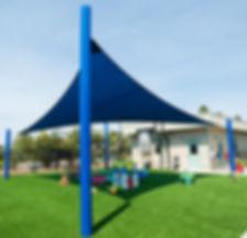 Blue Shade Sail and playground