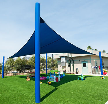 Blue Shade Sail and playground