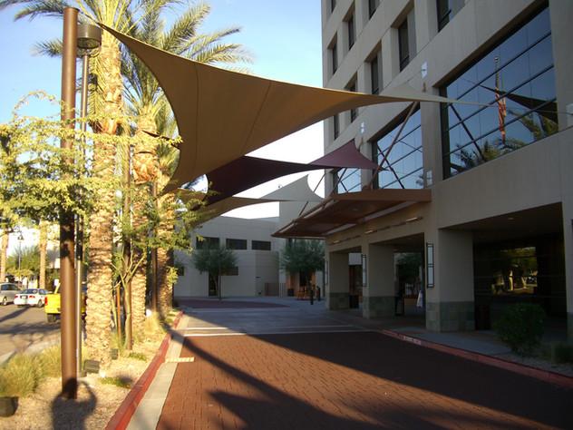 Custom Shade Sails - Walkway