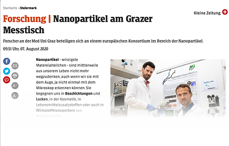 Kleine Zeitung - Nanopartikel am Grazer