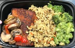 Blackened Salmon Meal prep