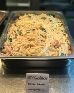 Where my pasta lovers_! #shrimpalfredo #