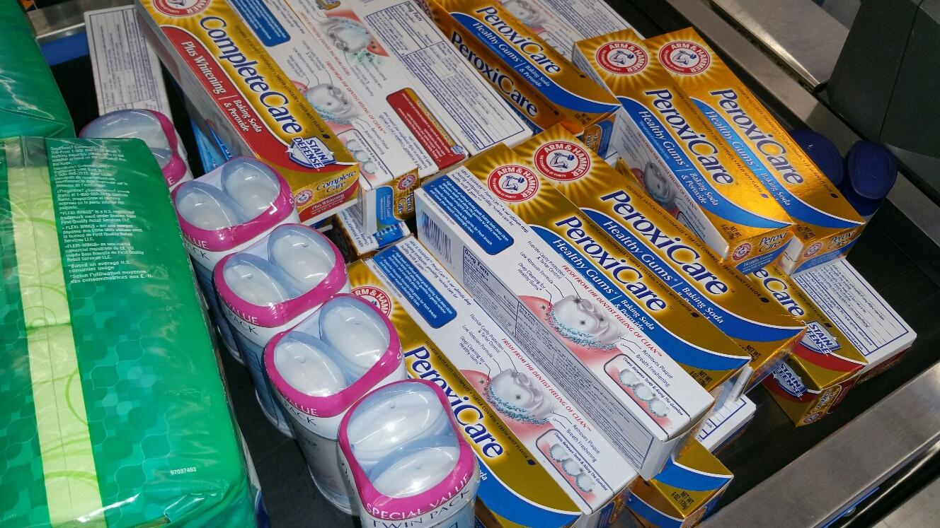 Dove Deordorant, Toothpaste & Pads