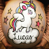 bellypaint unicornio barriga pintada