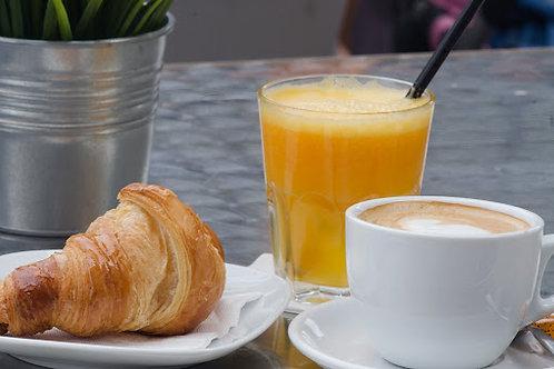Café  C/Leche + Croissant + Zumo de Naranja