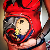 Bellypaint wonderwoman