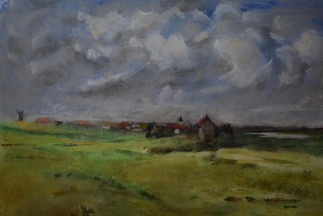 Interpretation of E. Boudin painting