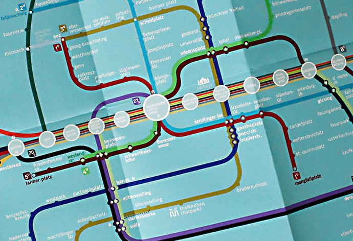 Munich Subway Map Re-design