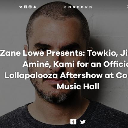 Show Preview: Zane Lowe Presents: Towkio, Jidenna, Aminé, Kami Lolla Aftershow