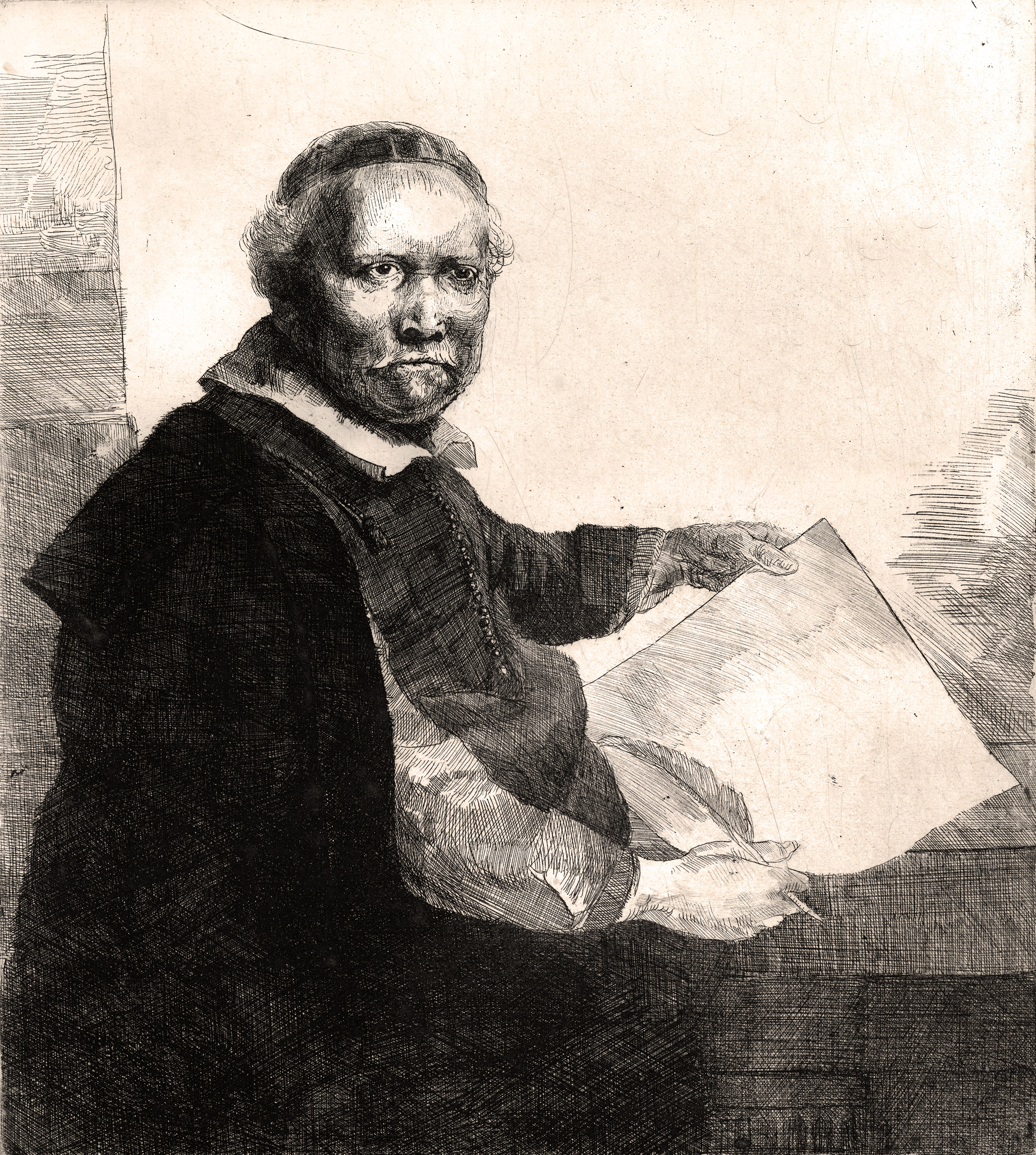 Replica of an etching by Rembrandt