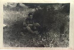 На этюде, июль 1953