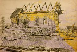 Dobroe Village. House Building