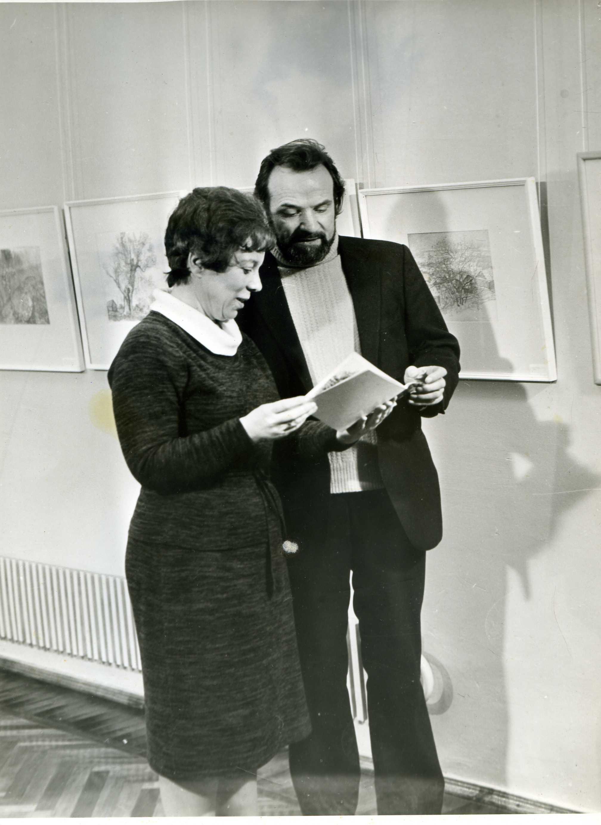 Avec Tamara Voronova.