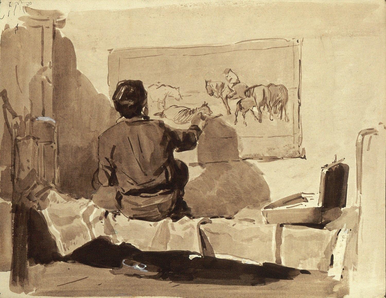 V. Nepyanov. An Artist