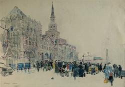 Square of Kiyevsky station. Moscow