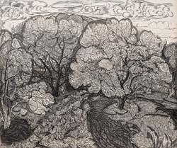 Яблоневый сад в цвету