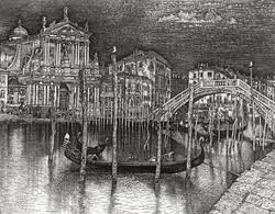 Венеция. Гондолы на Большом канале