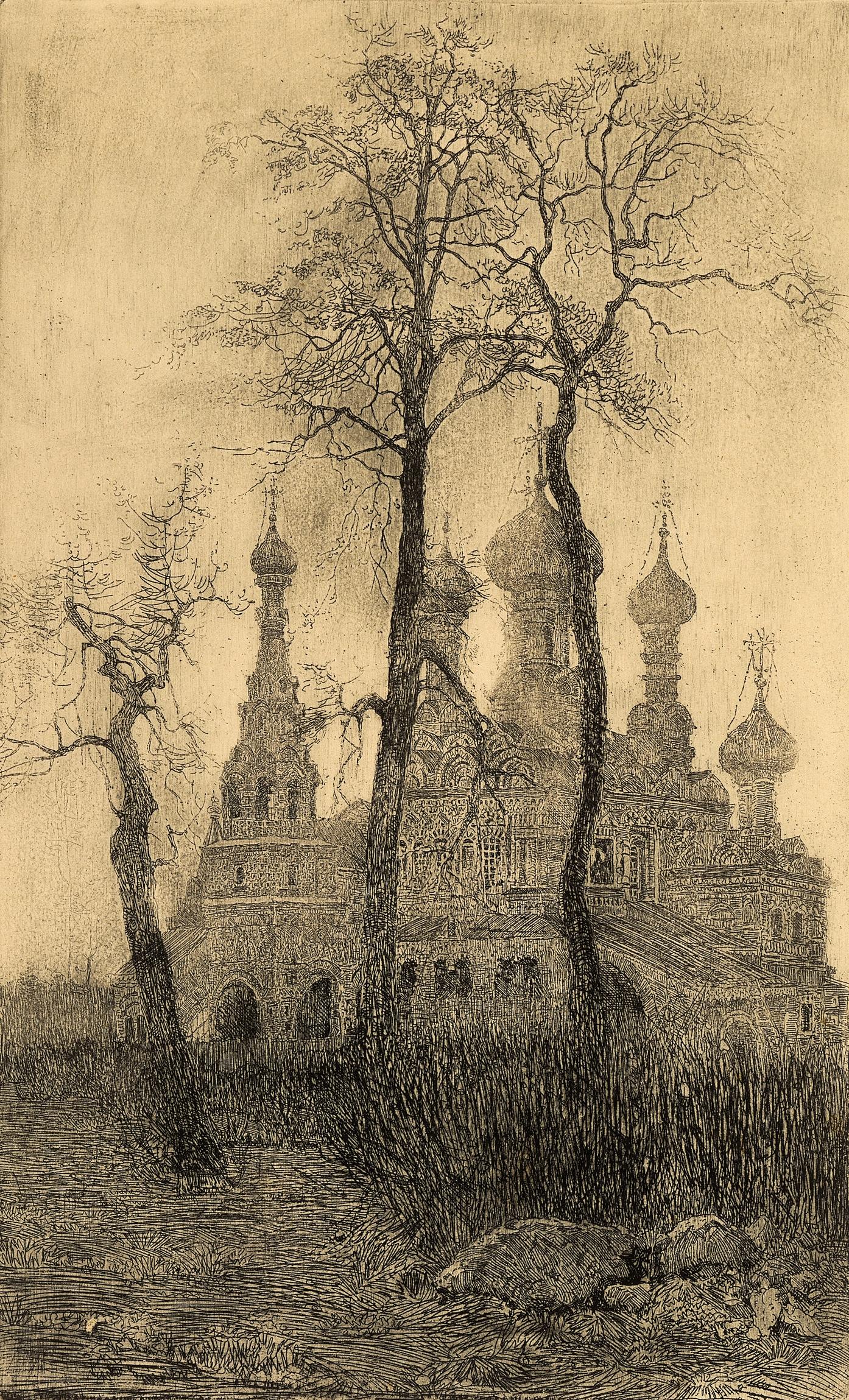 Moscow. Church in Ostankino