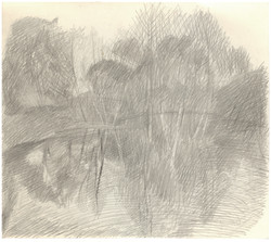 """Sketch of """"Spring View"""" etching"""