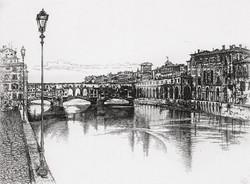Флоренция. Река Арно