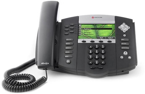 Polycom SoundPoint IP 670 6-line Color Display IP Phone HD Voice Inc PSU