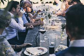 La cena al aire libre