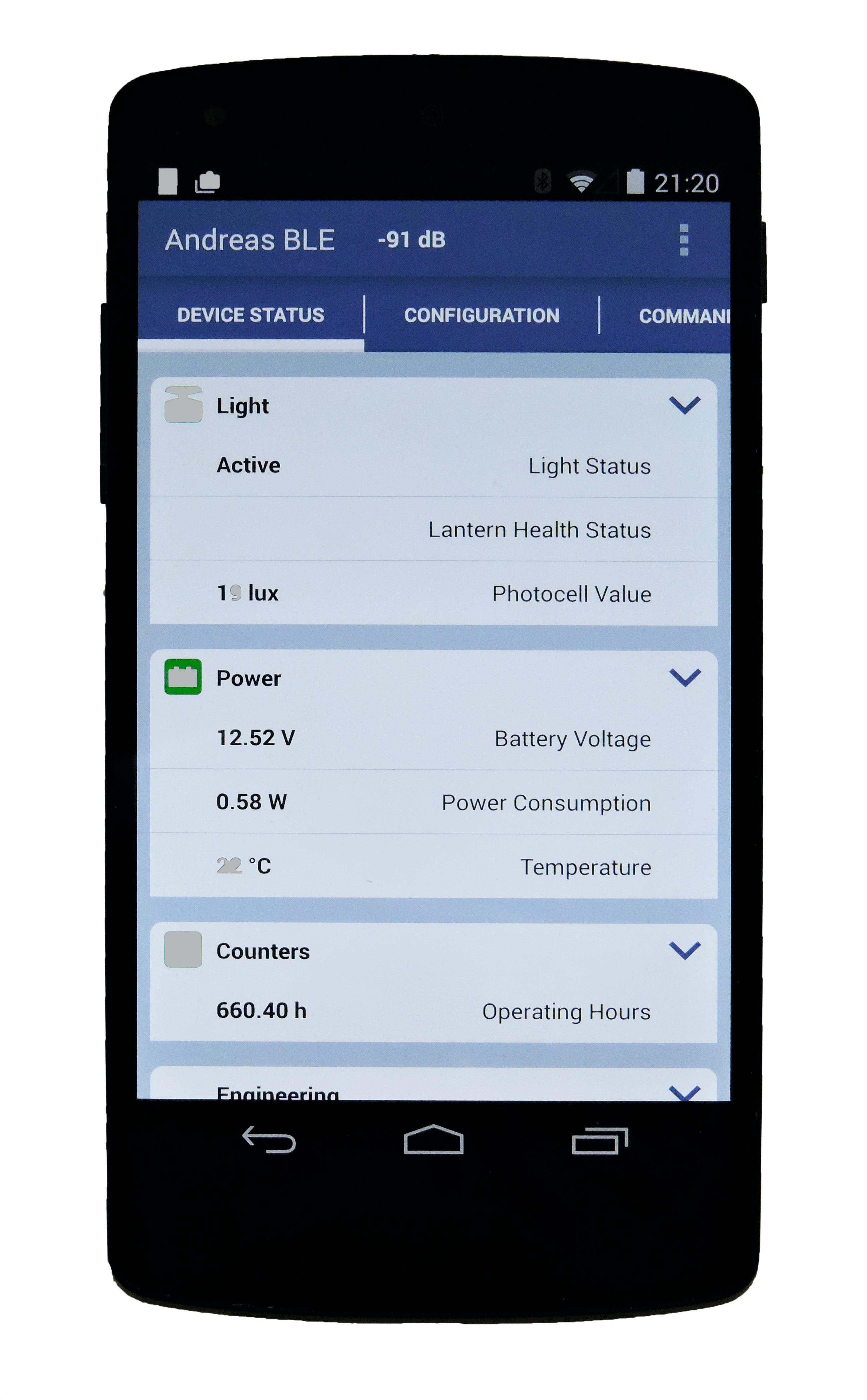 Bluetooth phone app