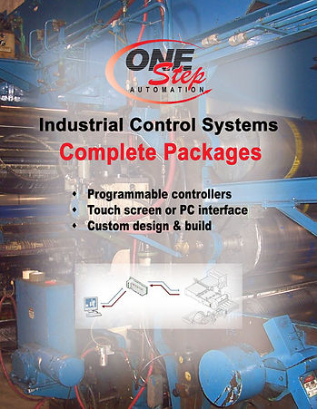 industrial control systems complete packages programmable controllers touch screen or PC interface custom desig and build
