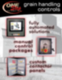 grain handling conrols fully automated solutions manual control packages custom contactor panels