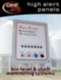 high alert panels bin level alarm bin level and shaft monitoring systems