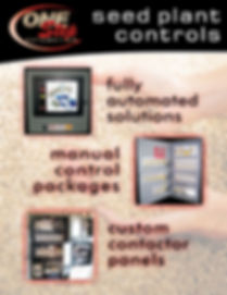 seed plant controls fully automated solutions manual control packages custom contactor panels