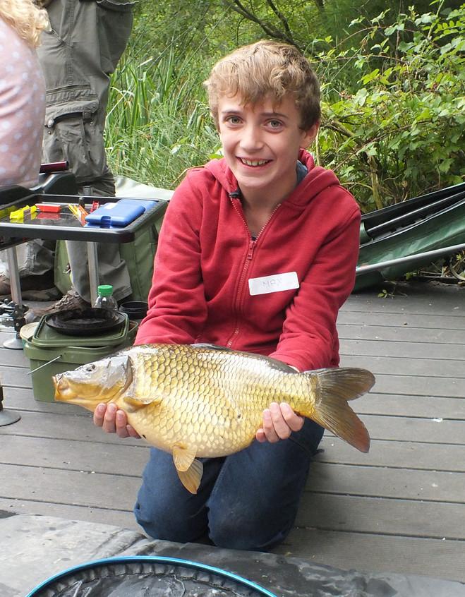 Max caught a carp