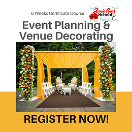 6 Weeks Event Planning & Venue Decorating 6 Weeks Course