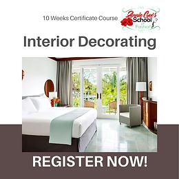 10 Weeks Interior Decorating Course