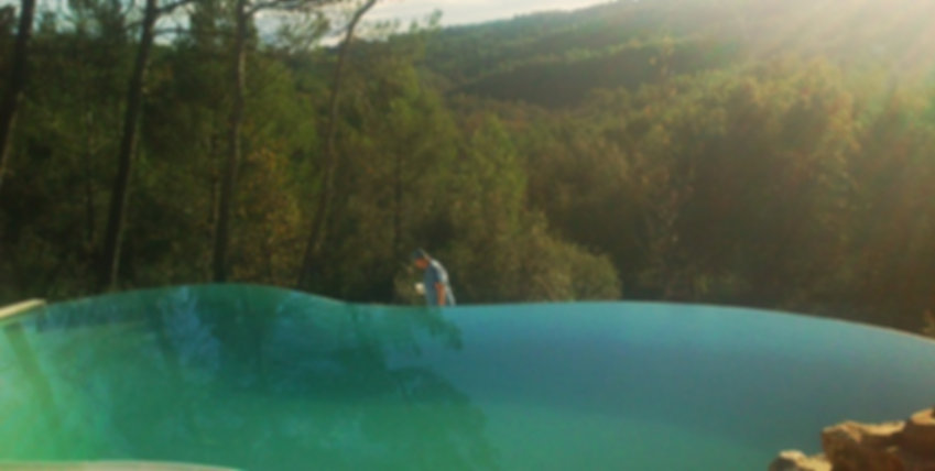 piscine de formes libre réalisée par l ' entreprise DECOR CONSTRUCTION