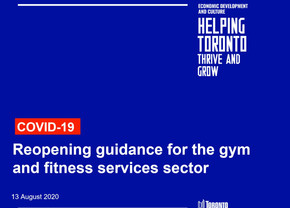 Reopening Guidance: Gyms and Fitness Services