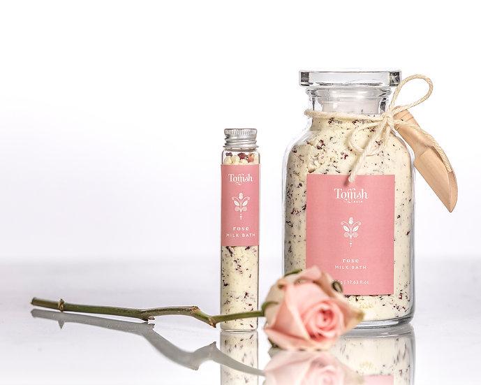 Milk Bath Rose French Apothecary Glass Jar