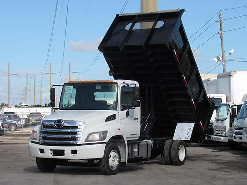 2016 Hino 258 15' Steel landscape Dump Truck