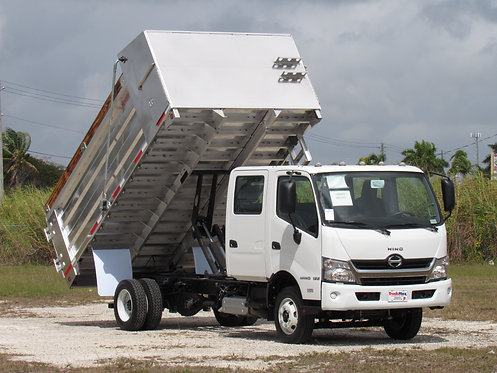 2019 Hino 155DC 14' BABCO aluminum landscape dump truck
