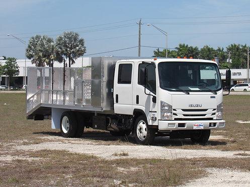 2020 Isuzu NPR-HD Crew cab Aluminum Dovetail Flatbed (Gas)