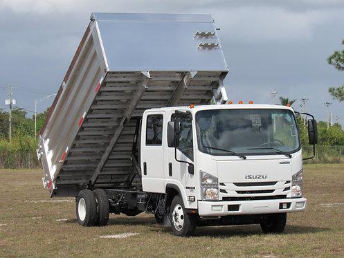 2020 Isuzu NPR Gas Crew Cab 14' Aluminum Landscape Dump Truck