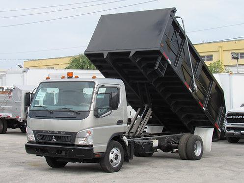 2008 Mitsubishi FE-125 14' steel landscape dump