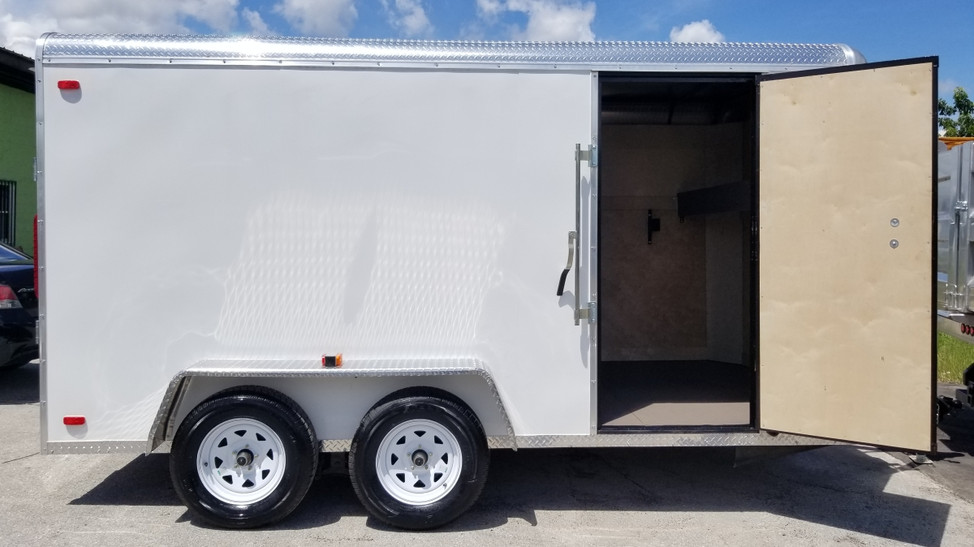 16' aluminum landscape trailer