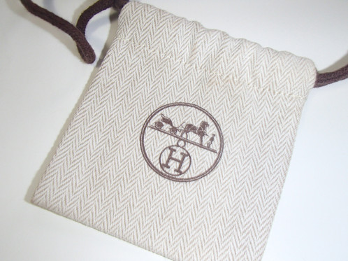 Hermes Dust Bag Shoe Gift Made In Paris High Quality Fabric Mint Condition