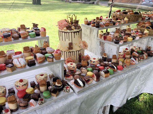 50th Birthday Dessert Setup