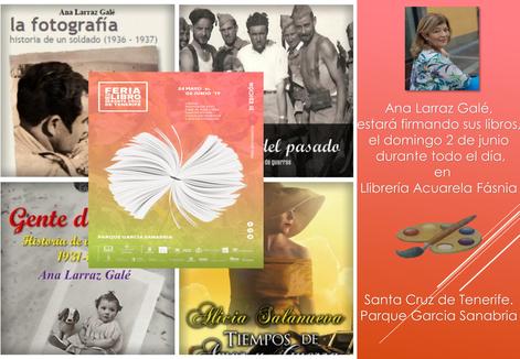 Firme de libros en Feria de Tenerife