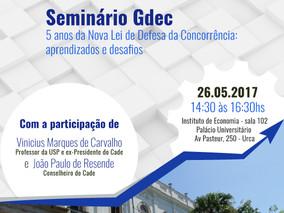 Seminário Gdec - 5 anos da Nova Lei: aprendizados e desafios