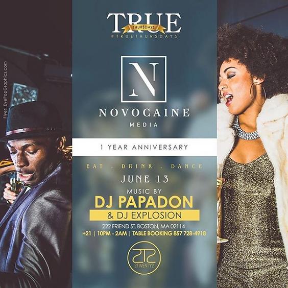 True Thursdays: Novocaine Media 1 Year Anniversary